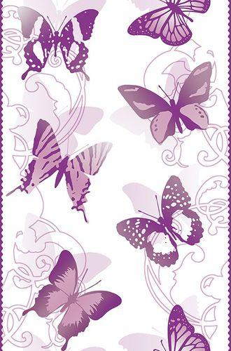Pop Up Panel 35x250cm selbstklebend Schmetterlinge lila online kaufen