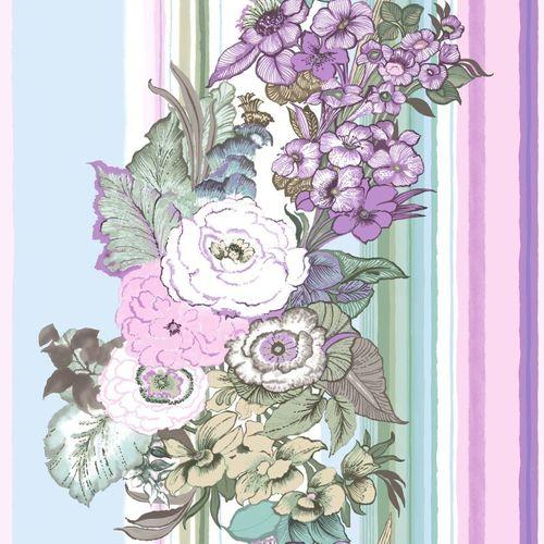 Rasch Textil Vliestapete 138114 Streifen Floral rosa grün online kaufen