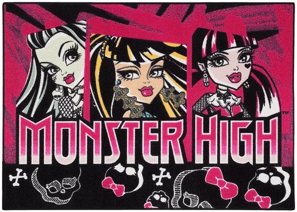 Kids Carpet Monster High purple black 95x133 online kaufen