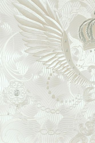 Glööckler wallpaper wings crowns cream gloss 54457 online kaufen