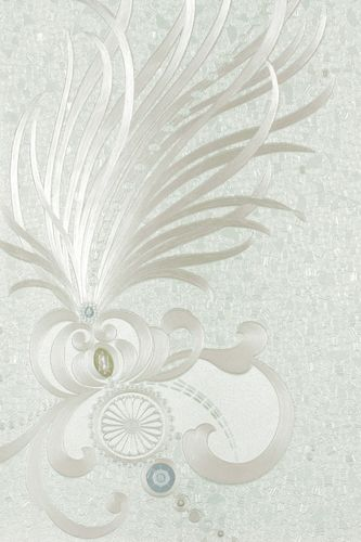 Wallpaper Harald Glööckler Deux feathers white 54472 buy online