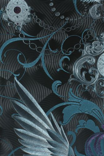 Glööckler wallpaper wings crowns anthracite gloss 54454 online kaufen