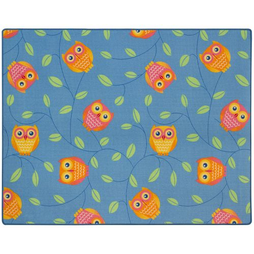 Happy Owls Carpet Kids Rug 133 x 170 cm blue online kaufen