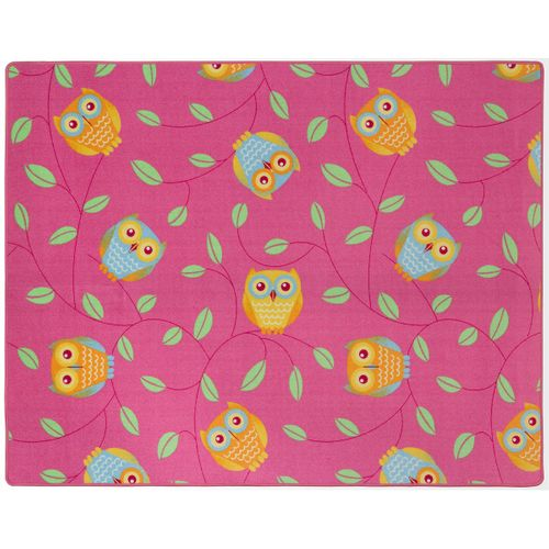Happy Owls Carpet Kids Rug 133 x 170 cm pink online kaufen