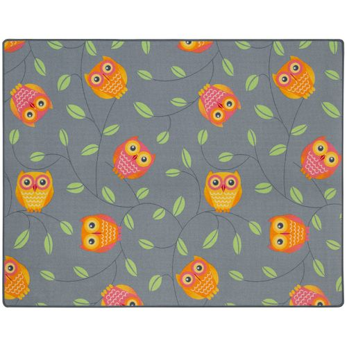 Happy Owls Carpet Kids Rug 133 x 170 cm dark grey online kaufen