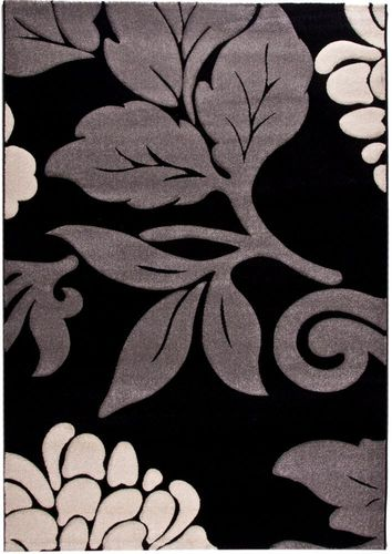 Carpet Florida flower grey black in 4 sizes buy online