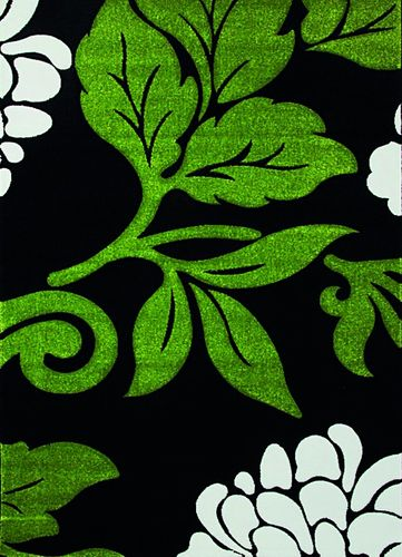 Carpet Florida flower green black in 4 sizes online kaufen
