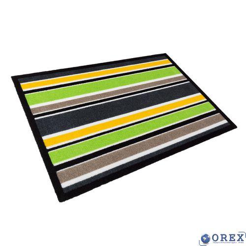 Designer Türmatte Schmutzfang Contzen 50x78 cm grün gelb online kaufen
