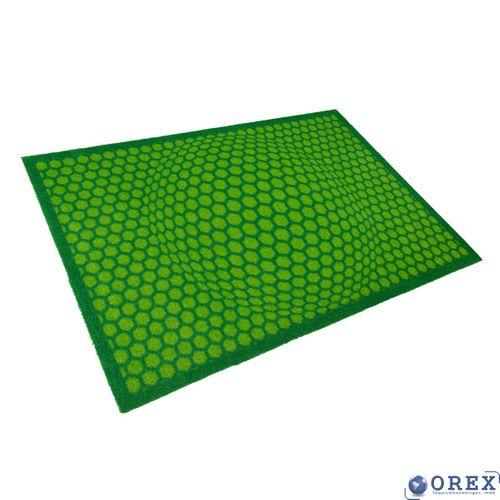Designer Türmatte Schmutzfang Lars Contzen 50x78 cm grün