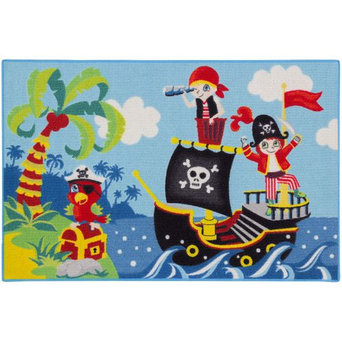 Carpet Kids Rug Pirates Pirate Ship 80x120 cm green blue online kaufen