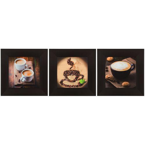 Wandbild 3er Set Kunstdruck je 23x23 cm Kaffee Kaffeebohnen braun hellbraun online kaufen