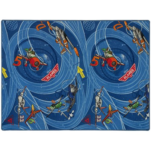 Kids Carpet Disney Planes Dusty Skipper Riley Rug 133x180cm blue online kaufen