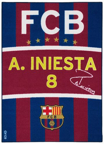 Carpet FC Barcelona Iniesta Fan Carpet 95x133 blue red yellow white online kaufen