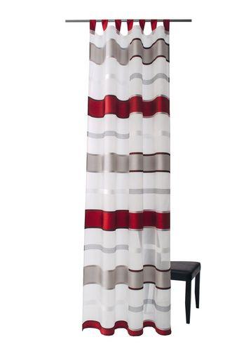 Cosoria Schlaufenschal Öko-Tex 140 x 245 halbtransparent Streifen 5614-07 rot