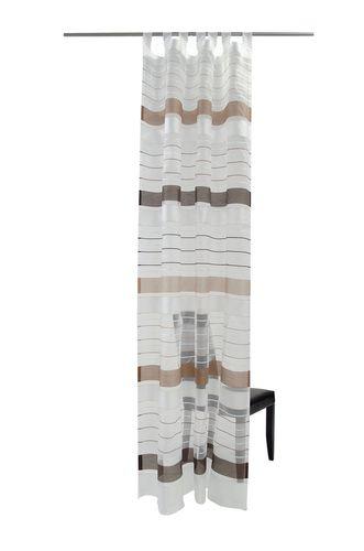 Leesburg Schlaufenschal Öko-Tex Vorhang 140 x 255 halbtransparent 5745-13 braun