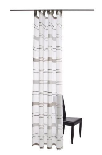 Prato Schlaufenschal Öko-Tex Vorhang 140 x 245 transparent 5676-21 silber