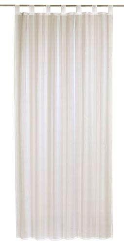 Elbersdrucke Streifenvoile Schlaufenschal Champagner transparenter Vorhang creme online kaufen