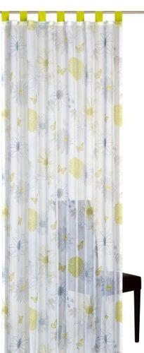 Elbersdrucke Floral Flower Mix 03 Schlaufenschal transparenter Vorhang grün online kaufen