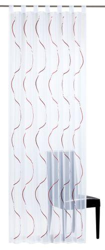 Elbersdrucke Serpentine 04 transparenter Vorhang weiß rot online kaufen