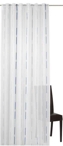 Elbersdrucke Calypso 01 Schlaufenschal halbtransparenter Vorhang blau grau online kaufen