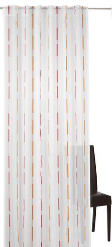 Elbersdrucke Calypso 04 Schlaufenschal halbtransparenter Vorhang pink orange online kaufen