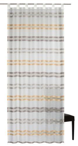 Elbersdrucke Kiruna 05 Schlaufenschal halbtransparenter Vorhang weiß orange online kaufen