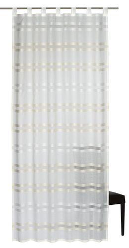 Elbersdrucke Kiruna 09 Schlaufenschal halbtransparenter Vorhang weiß beige online kaufen