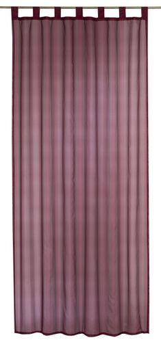 Elbersdrucke Streifenvoile Bordeaux Schlaufenschal transparenter Vorhang rot online kaufen