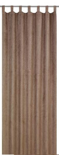 Elbersdrucke Tiziano 06 Schlaufenschal blickdichter Vorhang braun online kaufen