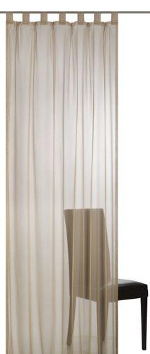 Elbersdrucke Plana 19 Schlaufenschal transparenter Vorhang dunkelbeige online kaufen