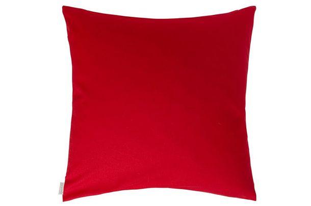 Kissenhülle Homing Kissenbezug Jonas Kissen uni rot in 2 Größen online kaufen