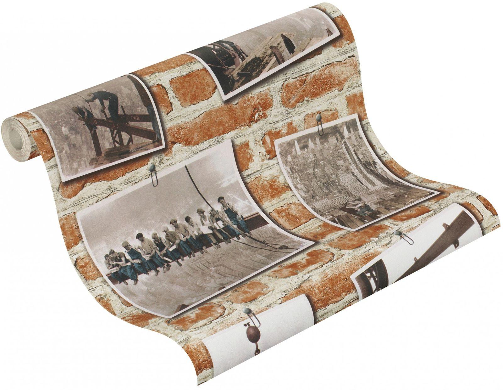 Rasch kids teens 235005 papier tapete mauer steintapete for Tapete backstein grau