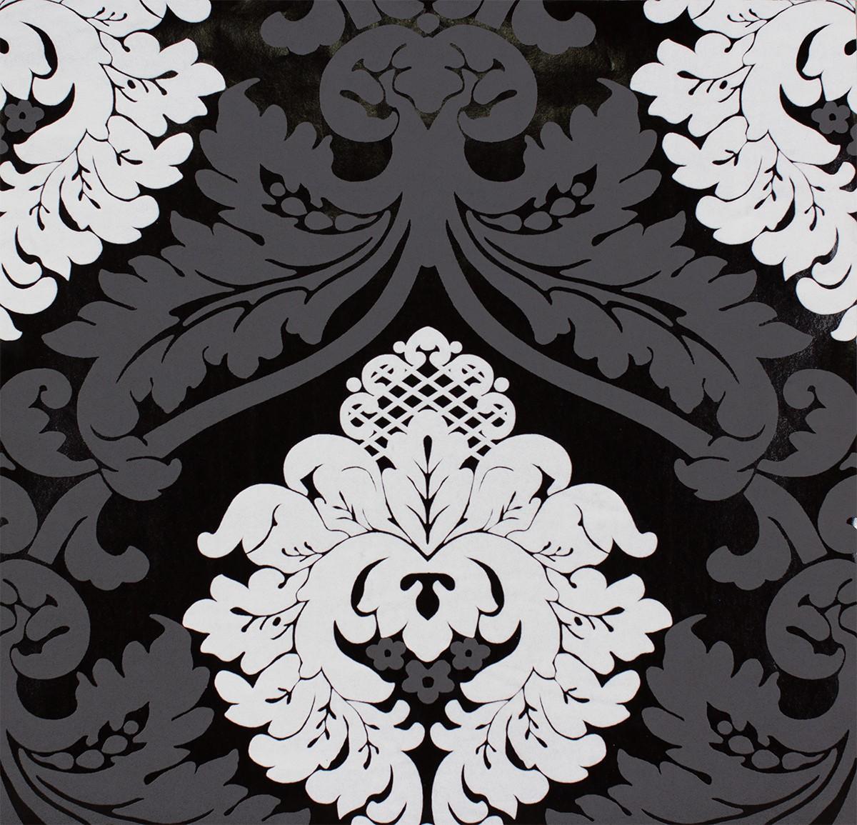 Pop Up Panel selbstklebend 52x250cm 3D Effekt 95566 1  1 - Tapete Schwarz Weis Barock