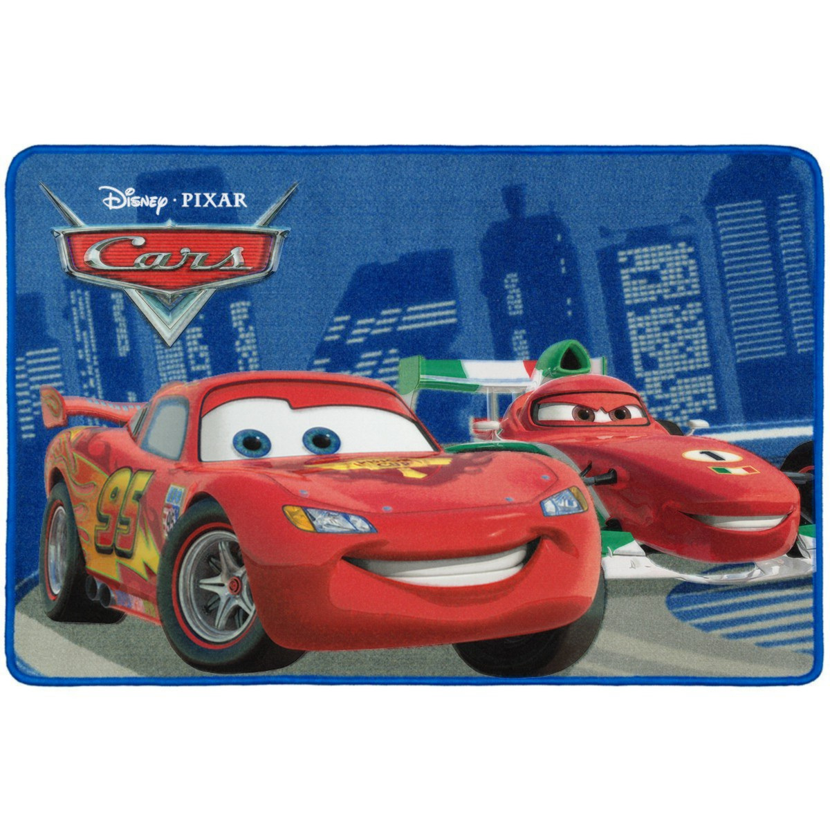 Kinderteppich Disney Cars Teppich Lightning Mcqueen Vs Francesco