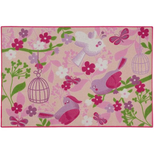 Kids Carpet Rug Birds of Paradise 80x120 cm pink rose online kaufen