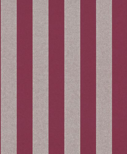 Wallpaper Non-Woven Striped Glitter bordeaux silver 225449 online kaufen