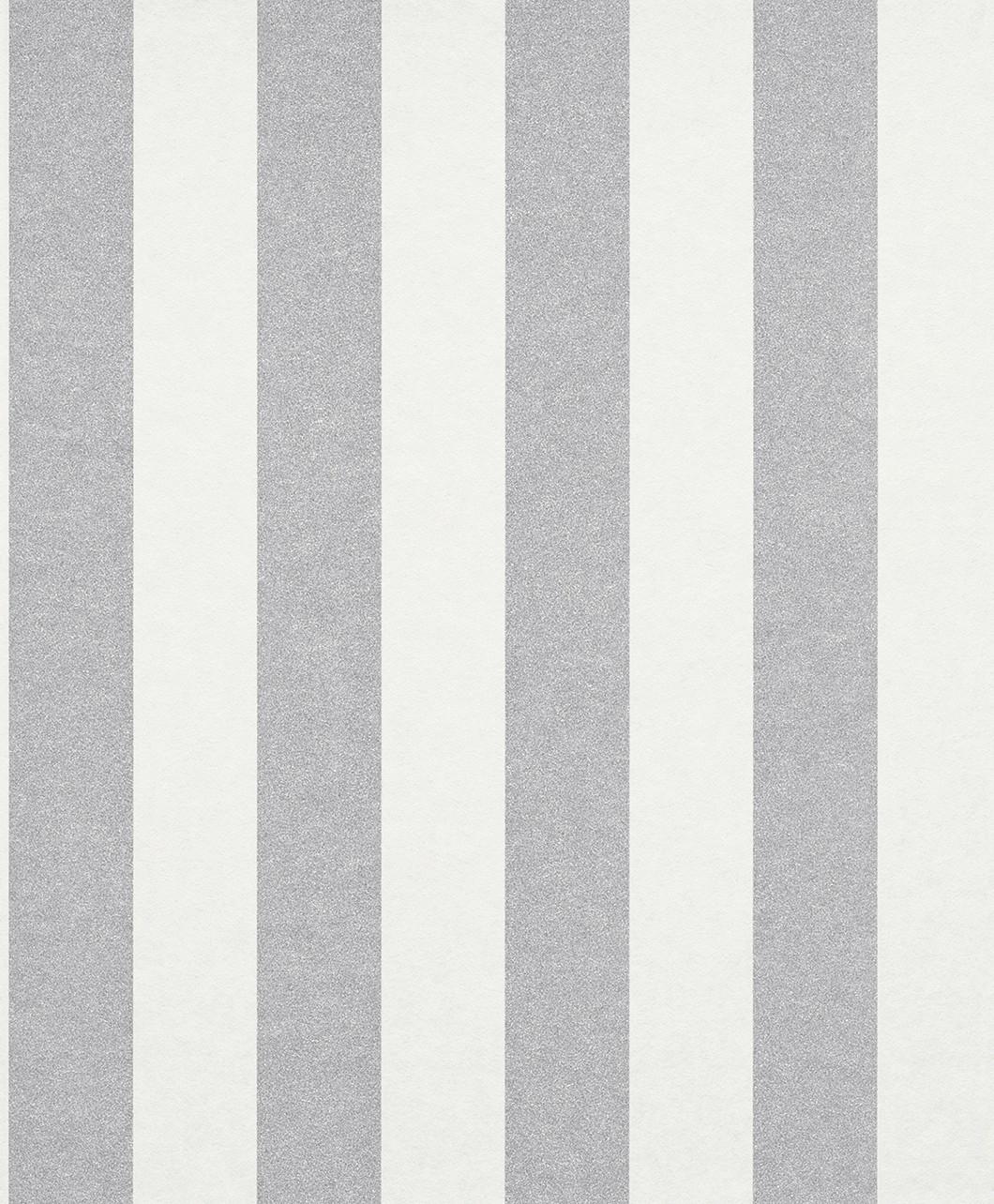 tapete vlies gestreift glitzer klassisch silber wei 225432. Black Bedroom Furniture Sets. Home Design Ideas