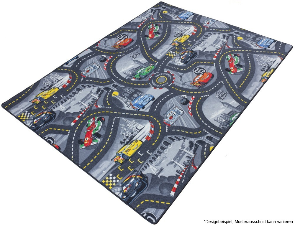 kids carpet disney cars street rug play carpet. Black Bedroom Furniture Sets. Home Design Ideas