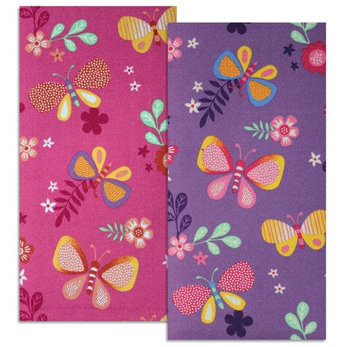 Kids Carpet Butterfly Papillon Rug in 2 Colors  online kaufen