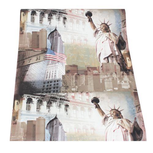Wallpaper city 5th Avenue USA brown beige cream wallpapers Ideco Home 152195 online kaufen
