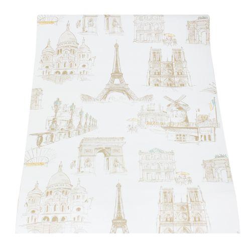 Tapete cremeweiß beige Stadt Paris Eifelturm Tapeten Ideco Home  online kaufen
