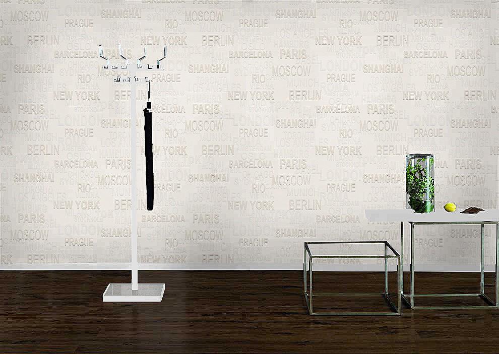 vlies tapete berstreichbar l nder schrift rasch 341409. Black Bedroom Furniture Sets. Home Design Ideas