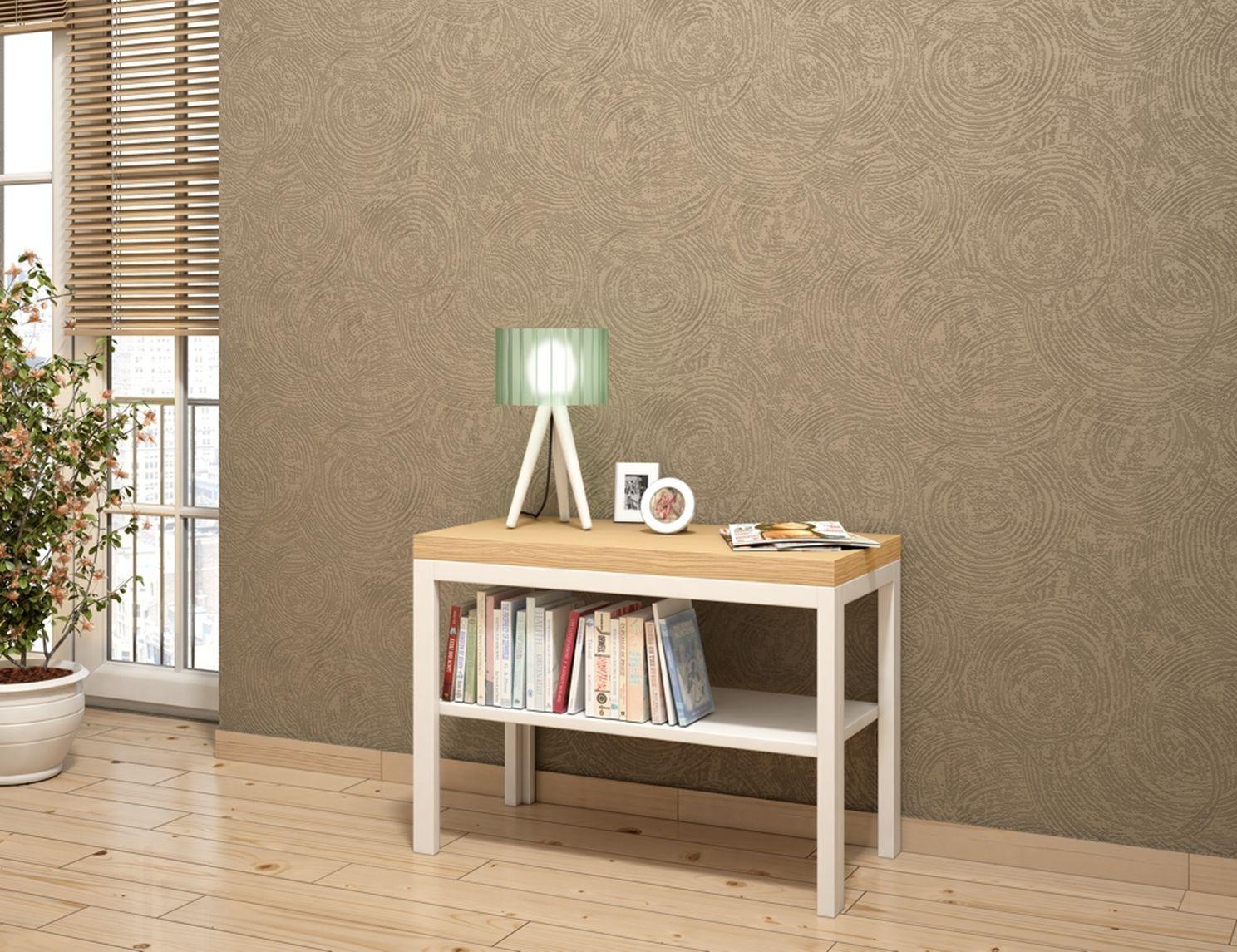 vlies tapete berstreichbar kreise rasch wallton 125207. Black Bedroom Furniture Sets. Home Design Ideas