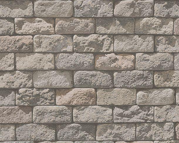 Tapete Steinmauer Used Look beige 95834-2 online kaufen