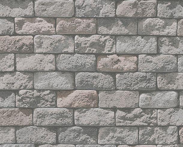 Tapete Steinmauer Used Look grau creme 95834-1 online kaufen