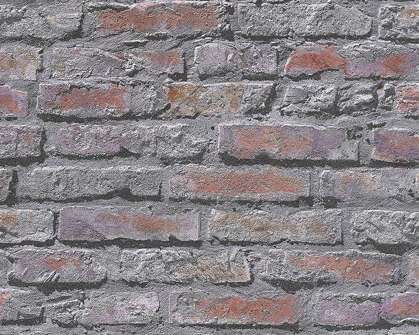 Tapete Steine Mauer Wand grau rot AS Creation 95470-2 online kaufen