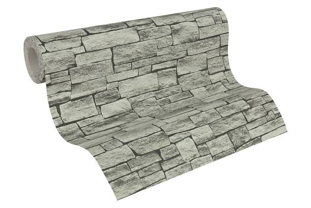 Wallpaper stone design grey black AS Creation 95871-2 buy online