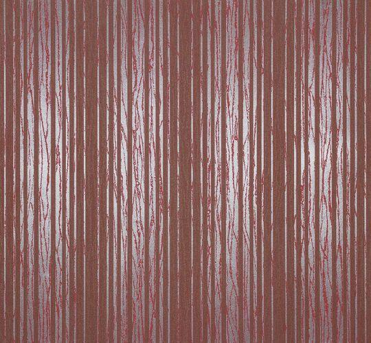 Vliestapete Streifen rot silber metallic Tapete Marburg Estelle 55719