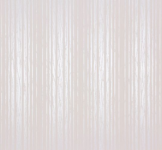 Non-Woven Wallpaper Stripes cream rosé Glitter 55721