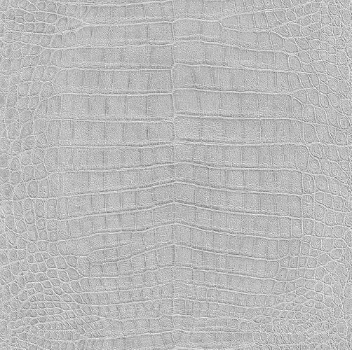 Rasch Non-woven Wallpaper crocodile silver 474145